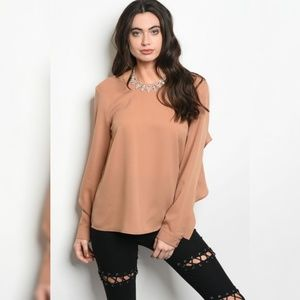 Tops - $12 TODAY ONLY Longsleeve Chiffon Top with RuffleS